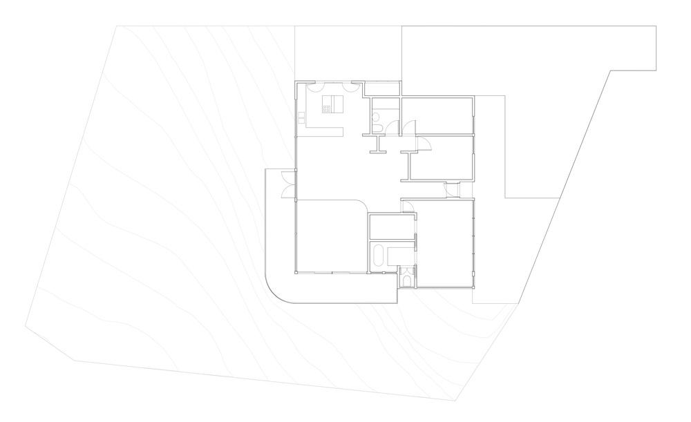 julien house : champs fleurs : plan