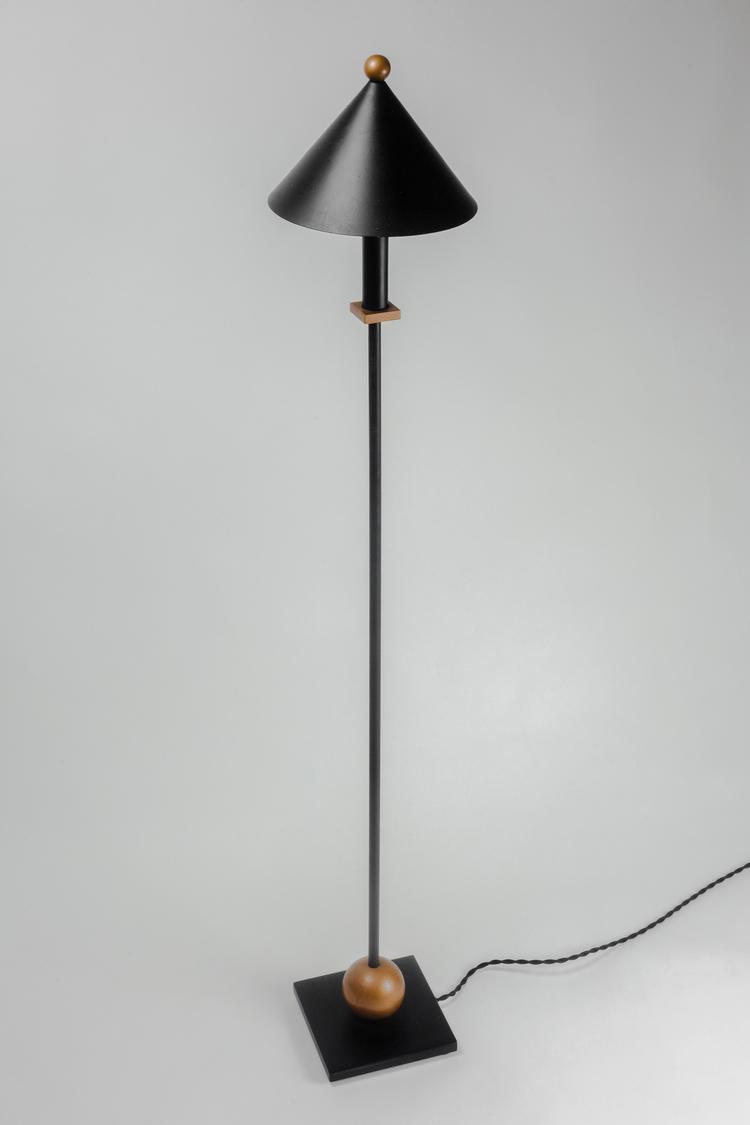 Floor lamp by robert sonneman for kovacs metal in black and gold floor lamp by robert sonneman for kovacs metal in black and gold usa 1980s mozeypictures Images