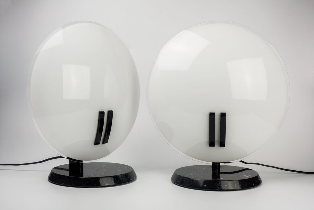 Italian Lamps in marble and glass Post Modern
