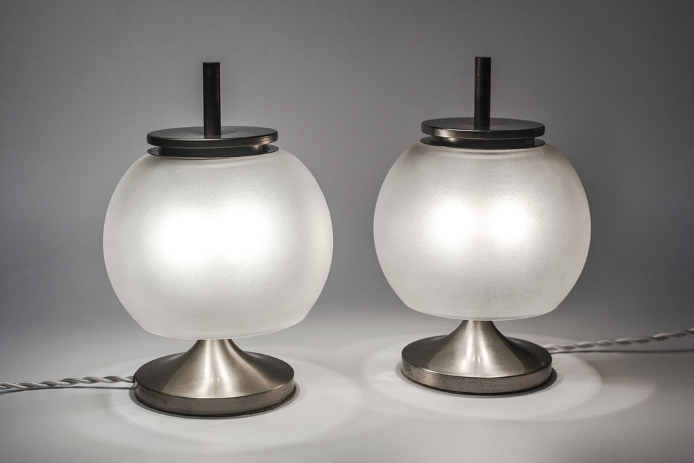 Pair of Italian Mid Century Lamps Bedside