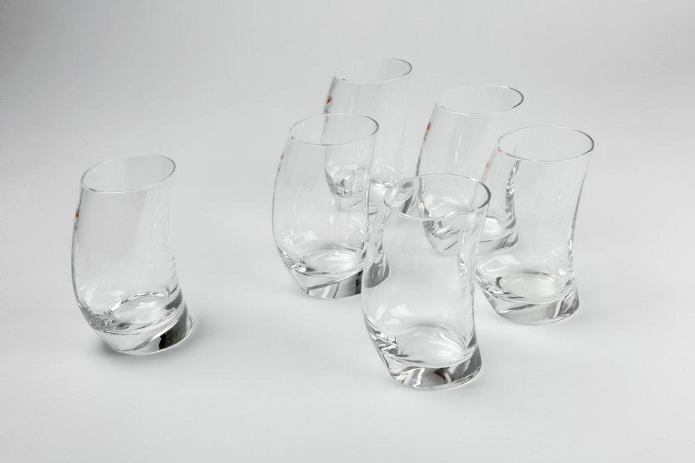 Designer Crystal Glassware Angelo Mangiarotti