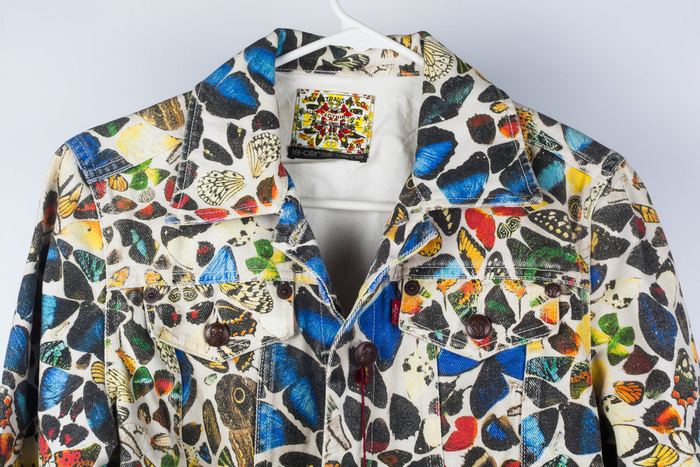 Damien Hirst Denim Jacket Butterflies Levis