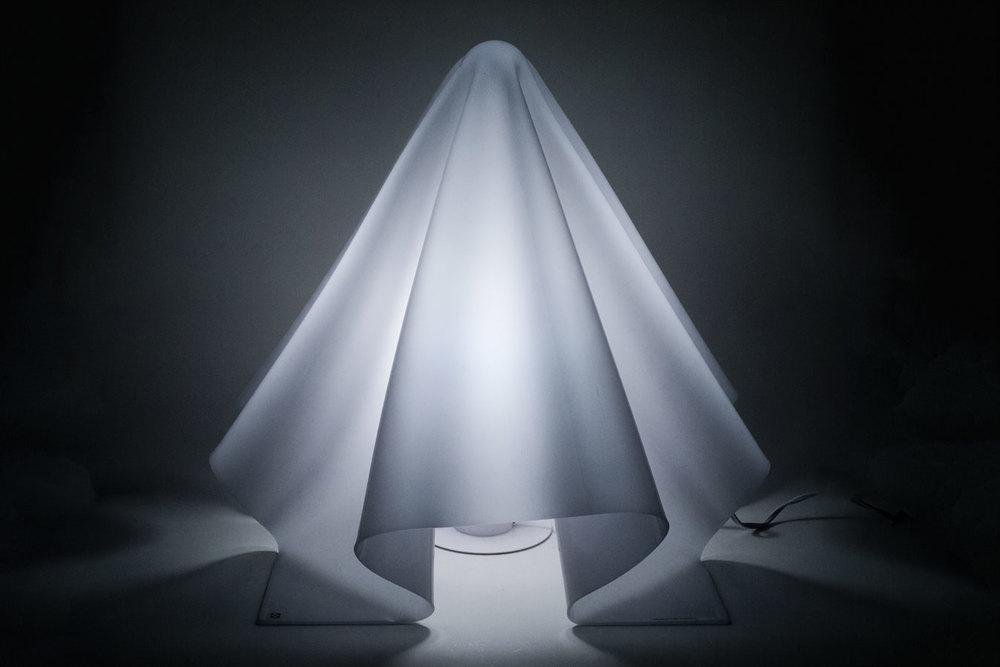 Ghost Lamp by Shiro Kuramata fo Yamagiwa, Large Model Hand Formed in Japan, 1970s