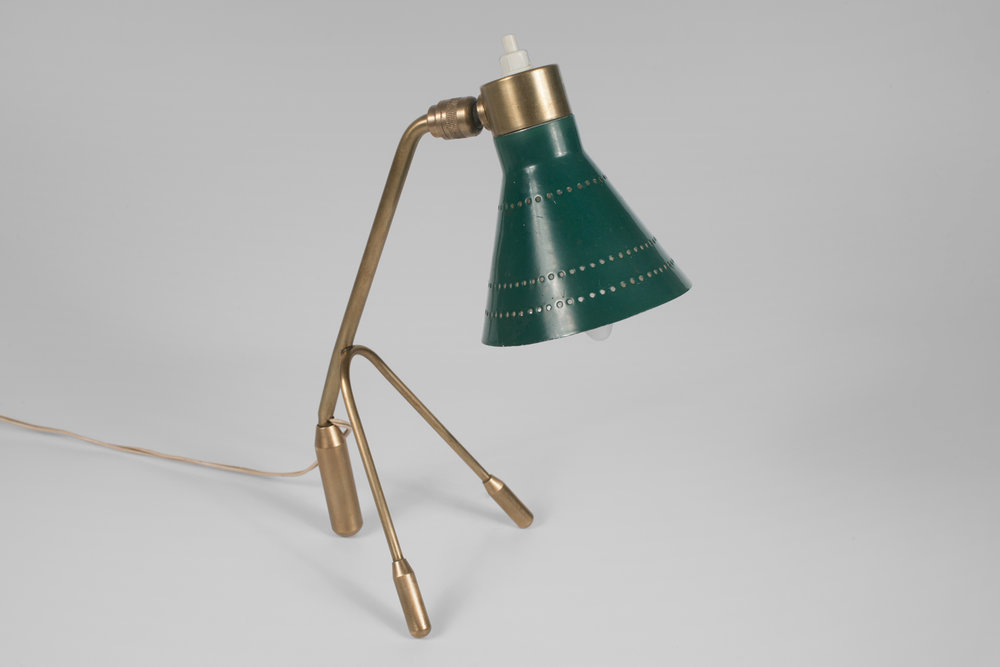 Table Lamp by Dekalux France, Attributed to Ostuni or Jean Boris Lacroix, 1950s