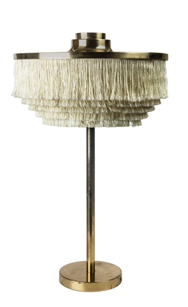 Fringe Lamp by Hans Agne Jakobsson, Largest model, Sweden, 1950s