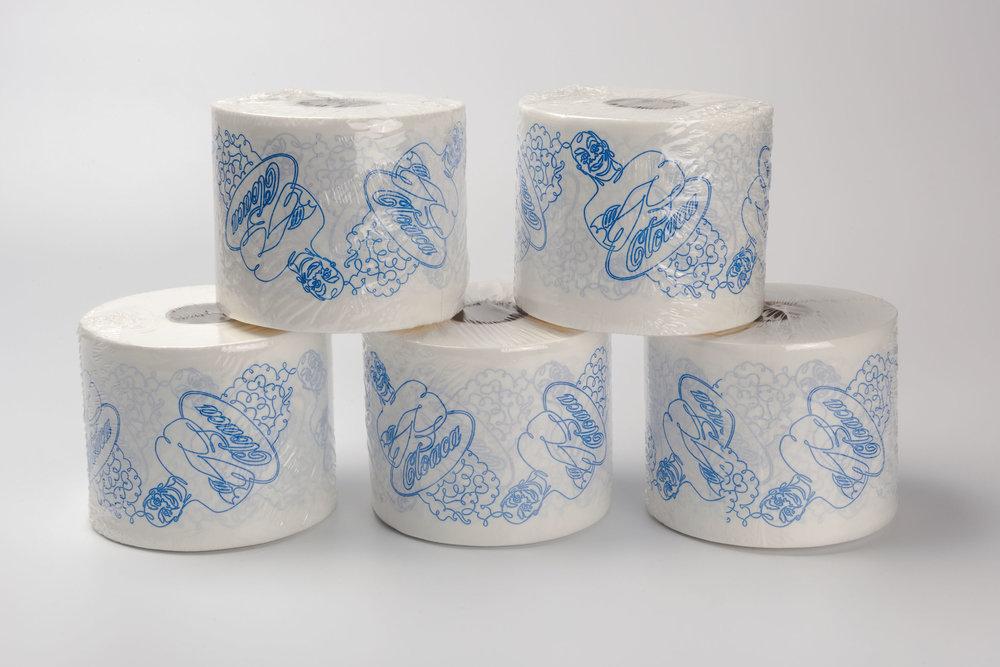 Cloaca Toilet Paper Rolls by Wim Delvoye, Luxembourg 2007