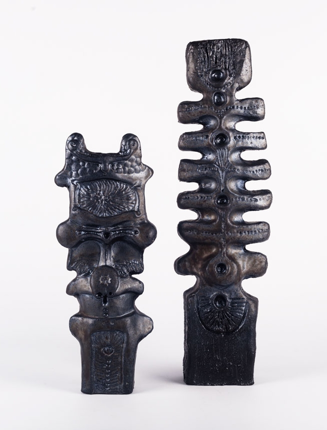 Pottery totems by Elisabeth Vandeweghe for Perignem (Belgium), early 1970s