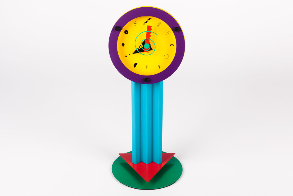"POSTMODERN DESK CLOCK ""PARADISE"" BY SHOHEI MIHARA FOR WAKITA, JAPAN, 1980S"
