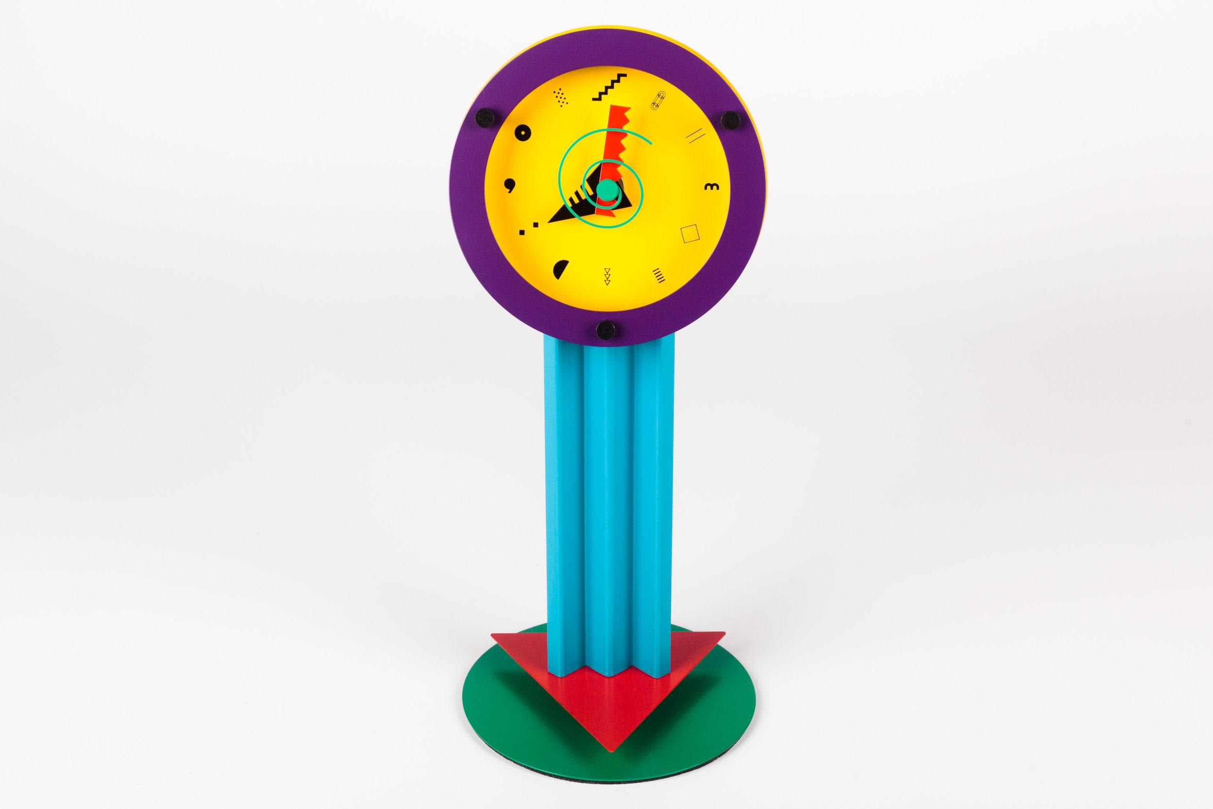 "POSTMODERN DESK CLOCK ""PARADISE"" BY SHOHEI MIHARA FOR WAKITA, JAPAN, 1980S"