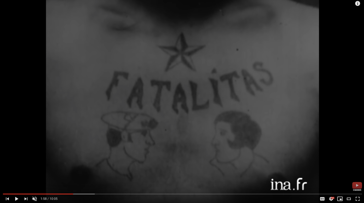 Bruno The First Tattoo Artist In Paris In 1964 French