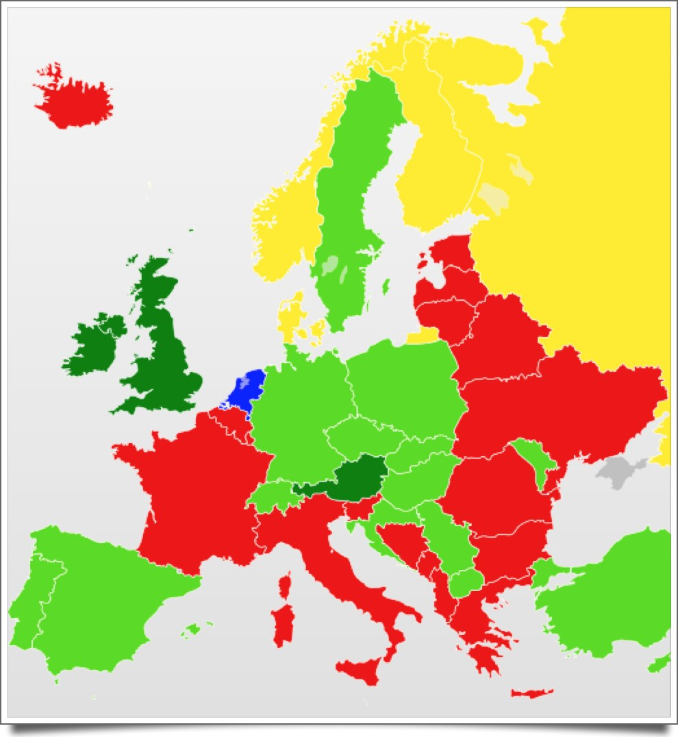 By Blank_map_of_Europe_cropped.svg: Revolus derivative work: Quibik (Blank_map_of_Europe_cropped.svg) [CC BY-SA 3.0 (http://creativecommons.org/licenses/by-sa/3.0)], via Wikimedia Commons