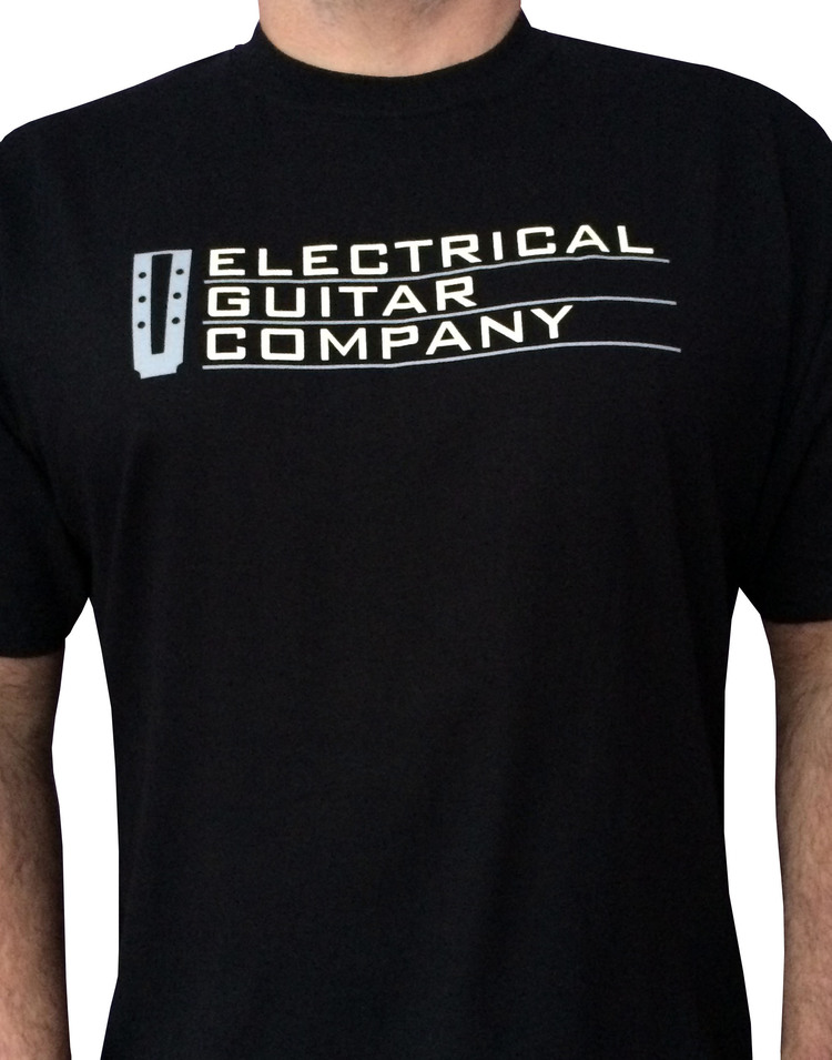 EGC Straight Logo Mens Black T Shirt