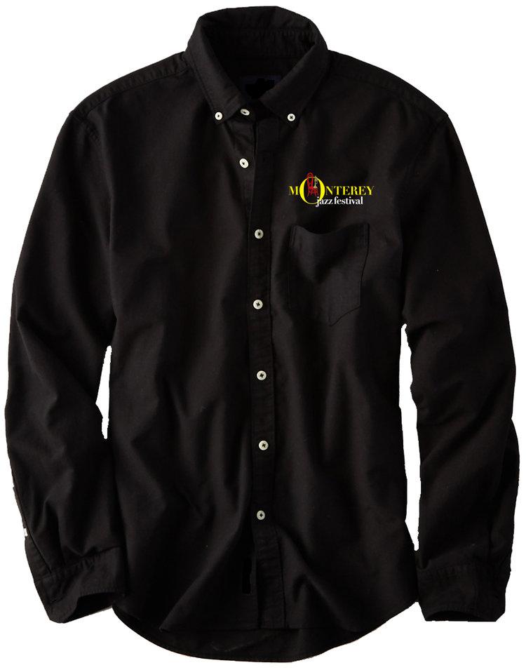 Mjf 59th Chair Mens Black Button Down Shirt