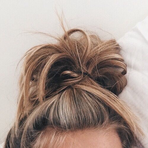 messy topknot 99% of the time. oh & reruns of the office please. #bears.beets.battlestargalactica