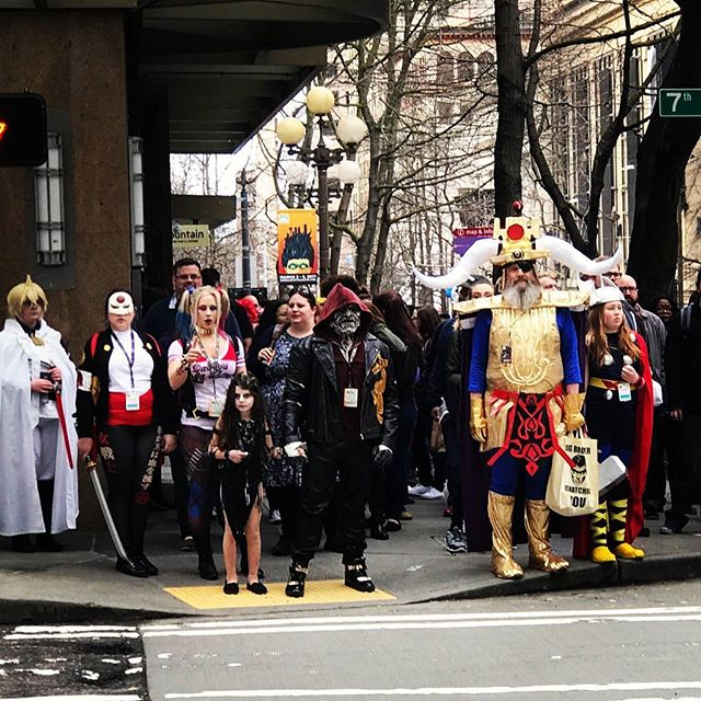 Just casually crossing the street! #comiccon #seattle #seattlecomicon #cosplay