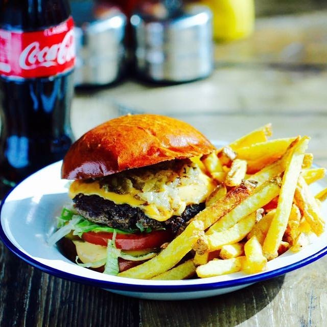 50% off the hand of the king for national cheese burger day and 25% off all other burgers