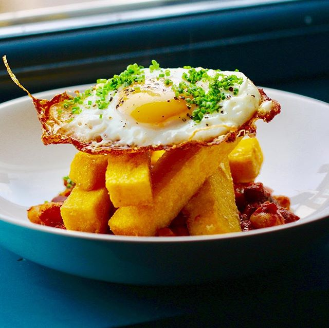 Brioche Brunch served on the weekend 10:30 - 2:30pm  Healthy , carb free and gluten free, crispy egg and polenta