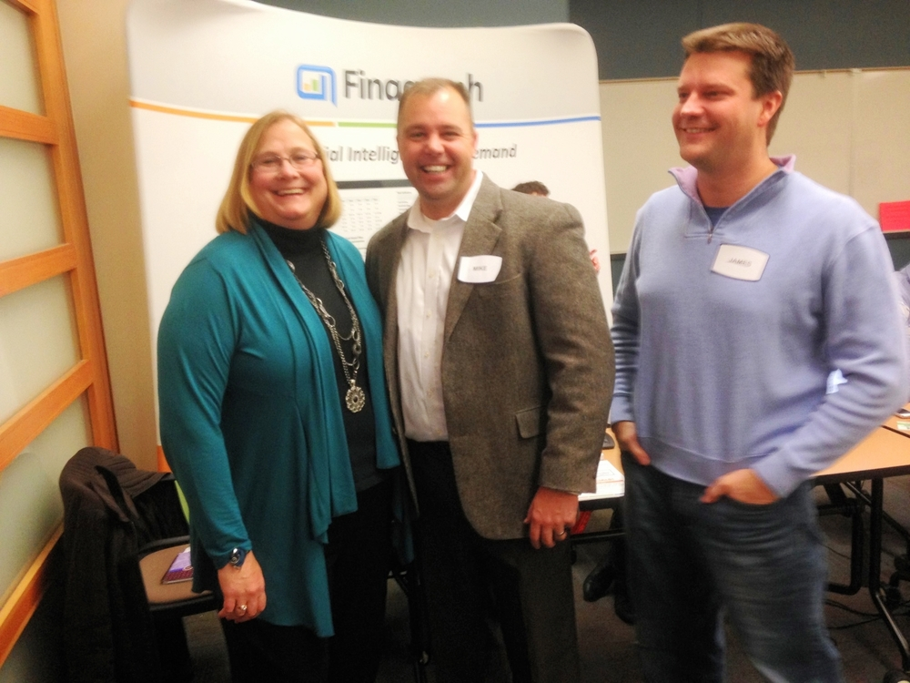 From left to right: Michelle Long, CPA, Mike Milan, svp of FInagraph and james walter, ceo of finagraph