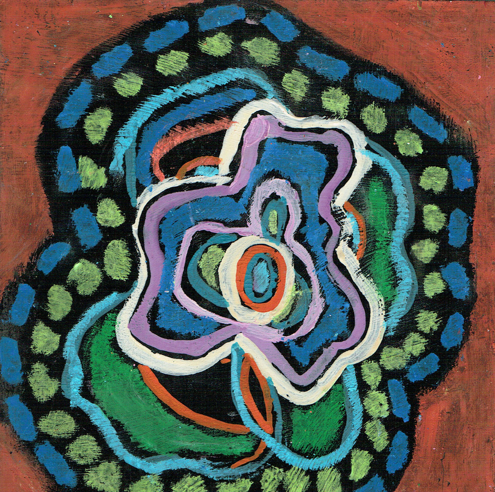 Black Pieces 3,  oil pastel and guache,  6x6 inches, 2013