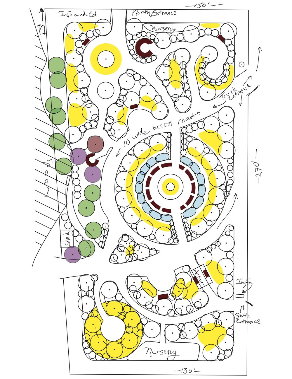 Map of the orchard originally used on BCO's website and print materials, created by Larry Buchanan.