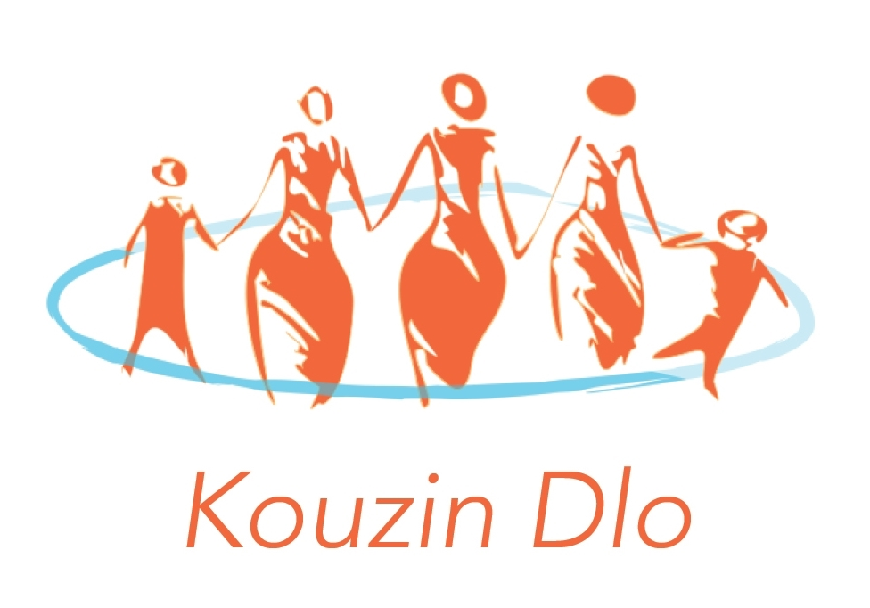 The Kouzin Dlo logo chosen by participants in our June Ideation lab.