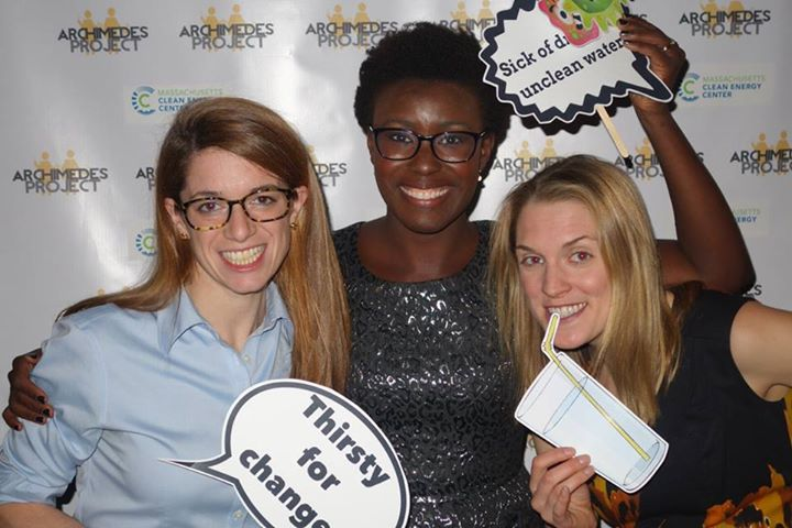"Our founder and guests ""Thirsty for change"" at Archimedes Project's 2014 Winter Party."