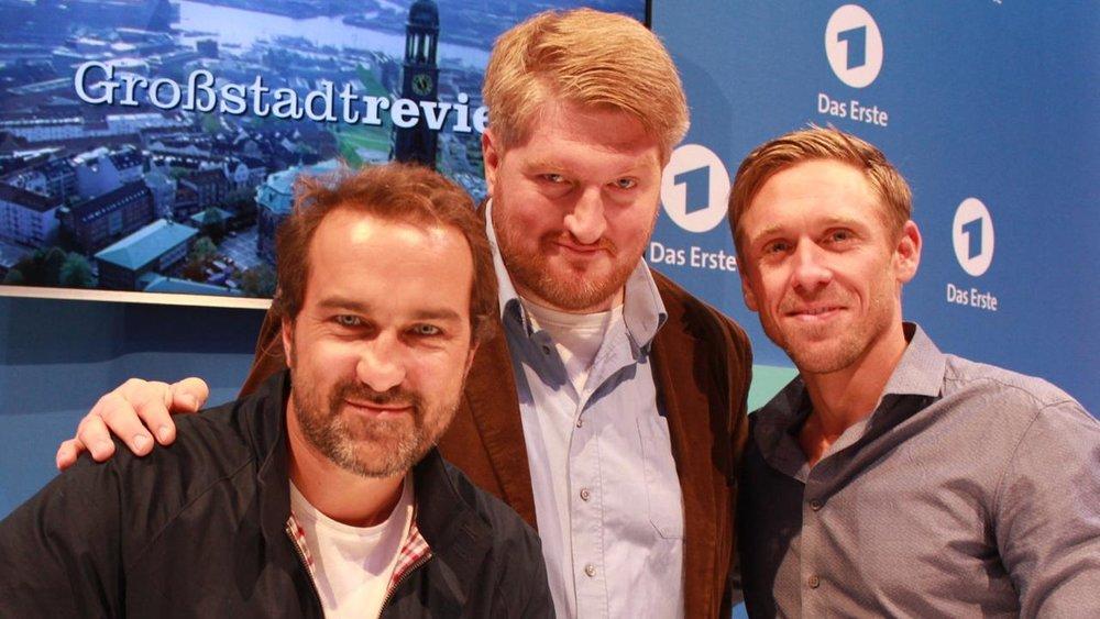 Drei Herren von der Schreibstelle