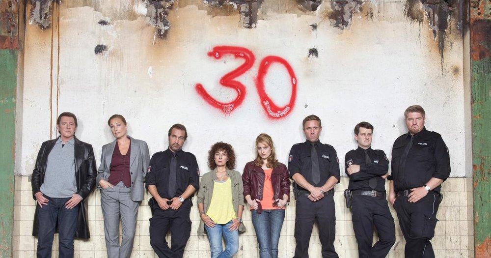 30 Jahre und noch gut dabei: Die aktuelle Crew des 14.Reviers.