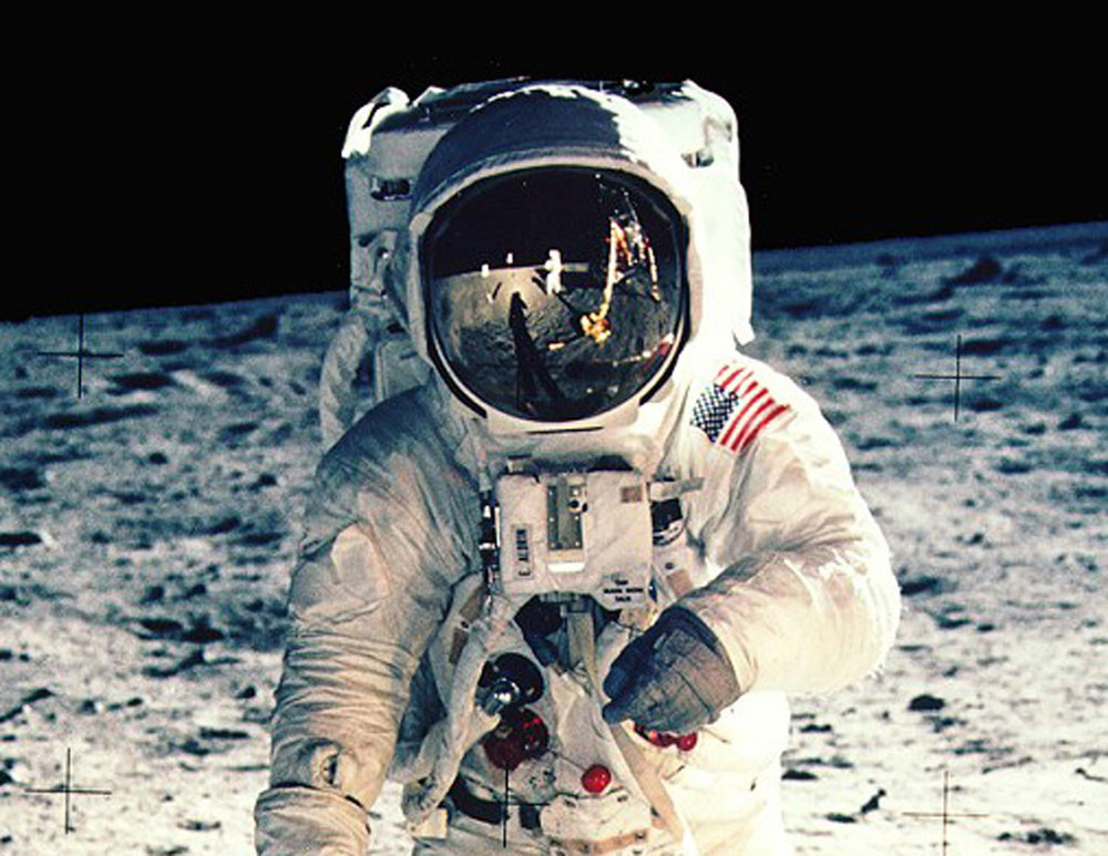 Buzz Aldrin on the surface of the moon | Photograph by Neil Armstrong
