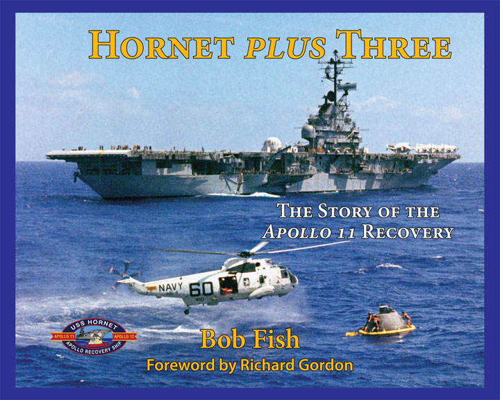 Bob's book is available in the Museum's Ship Store, and he will be signing copies of it from 3:30pm–5:00pm after a short presentation. Key members of the actual Apollo 11 Recovery Team will also provide eyewitness accounts, answer questions from the audience and be available to sign Hornet Plus Three.