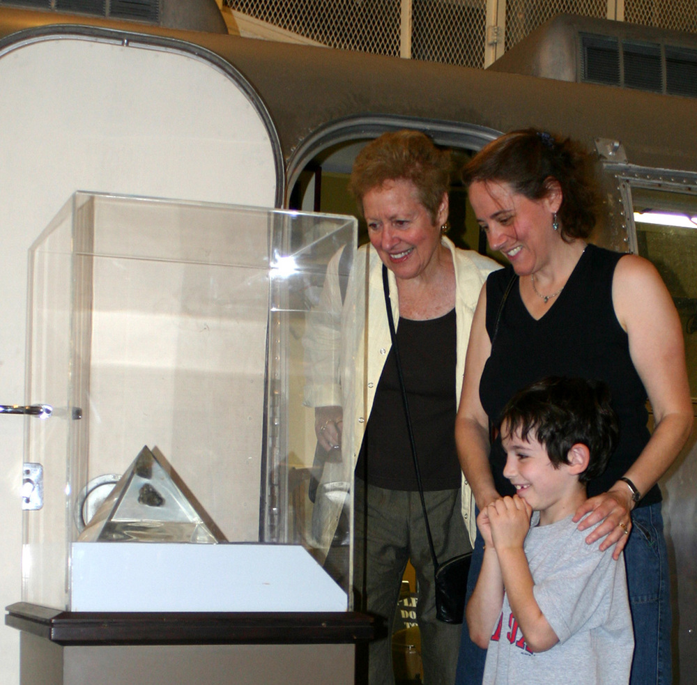 Everyone loves the opportunity to see an actual moon rock | Photo by Bob Fish