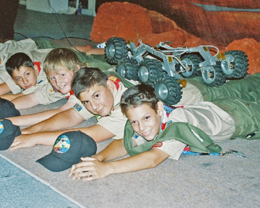 Mars Rover runs over BSA Troop 298 in 2004 | Photo by Bob Fish