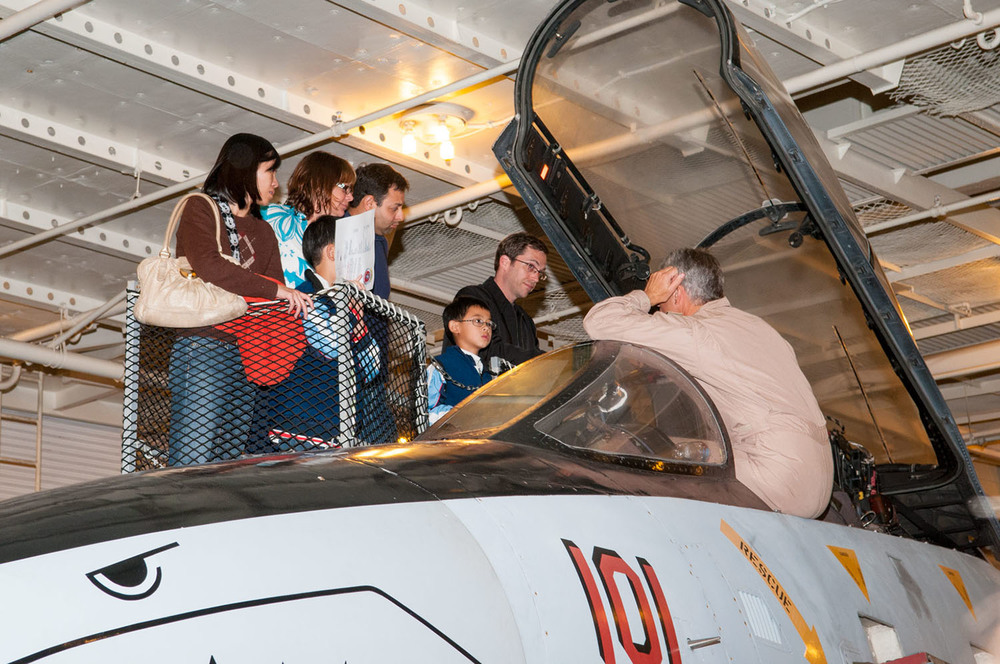 Visitors enjoy learning about aircraft up close | Photo by Susan Wood