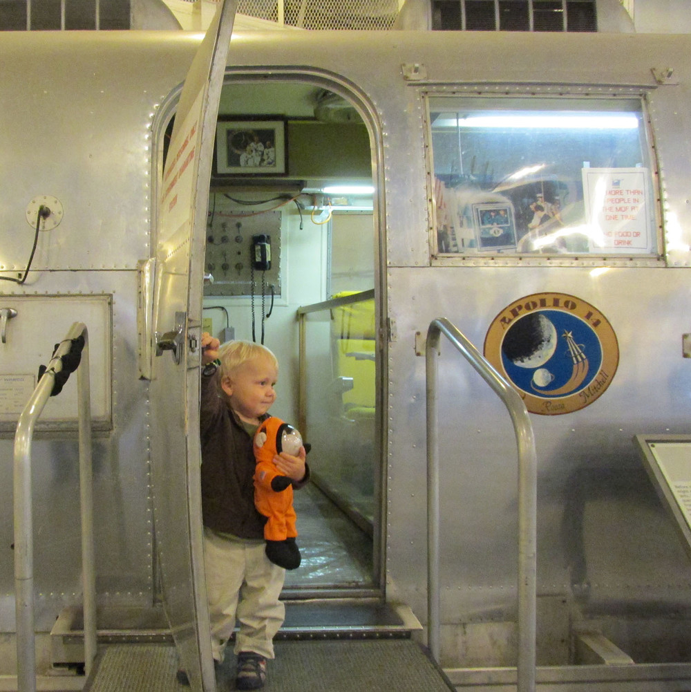 Henry Croxen, age 2, and his space monkey want to see what being quarantined was like. | Photo by his proud grandmother, Lisa Wright