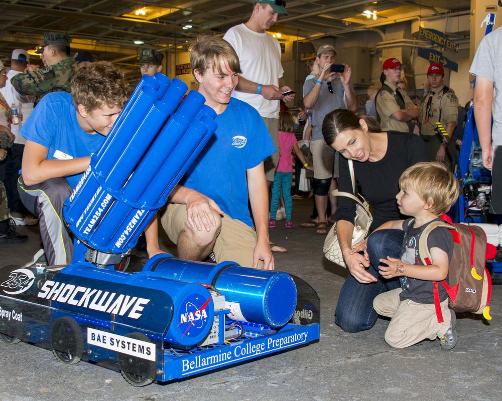 Team 254's robotics were a big hit
