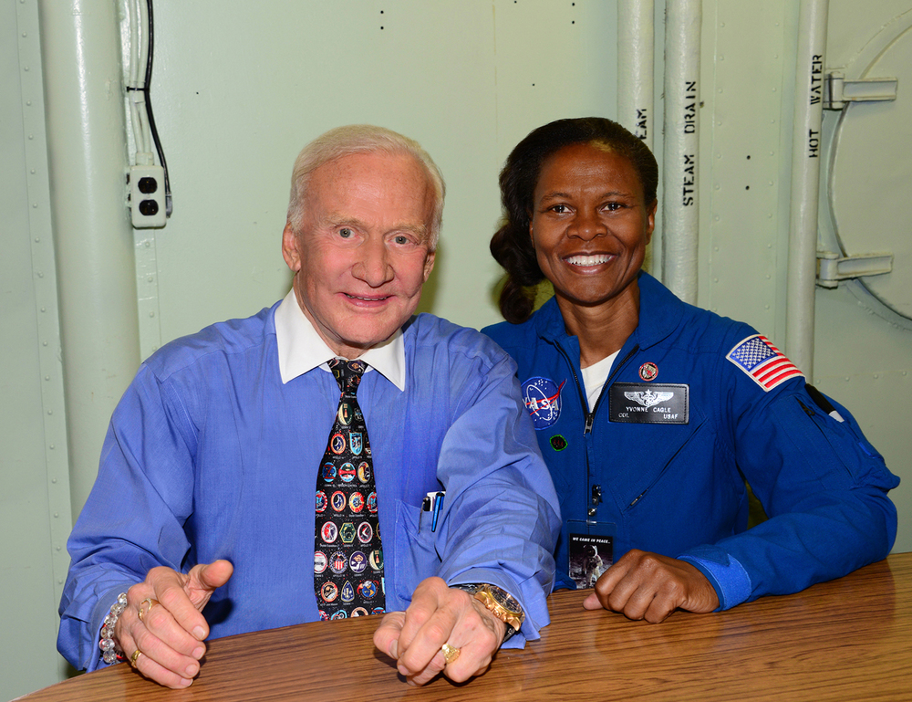 Dr. Buzz Aldrin and Dr. Yvonne Cagle