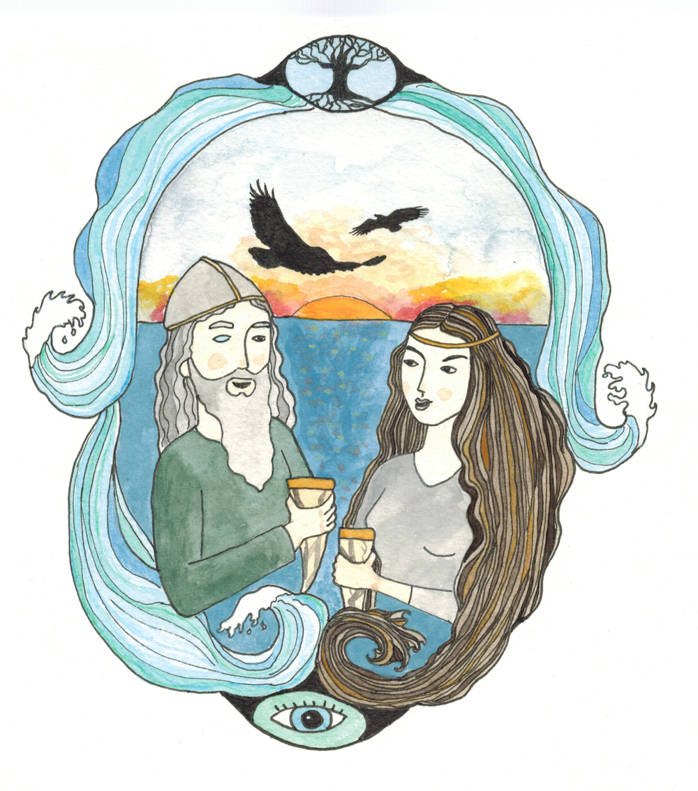 Odin and Saga