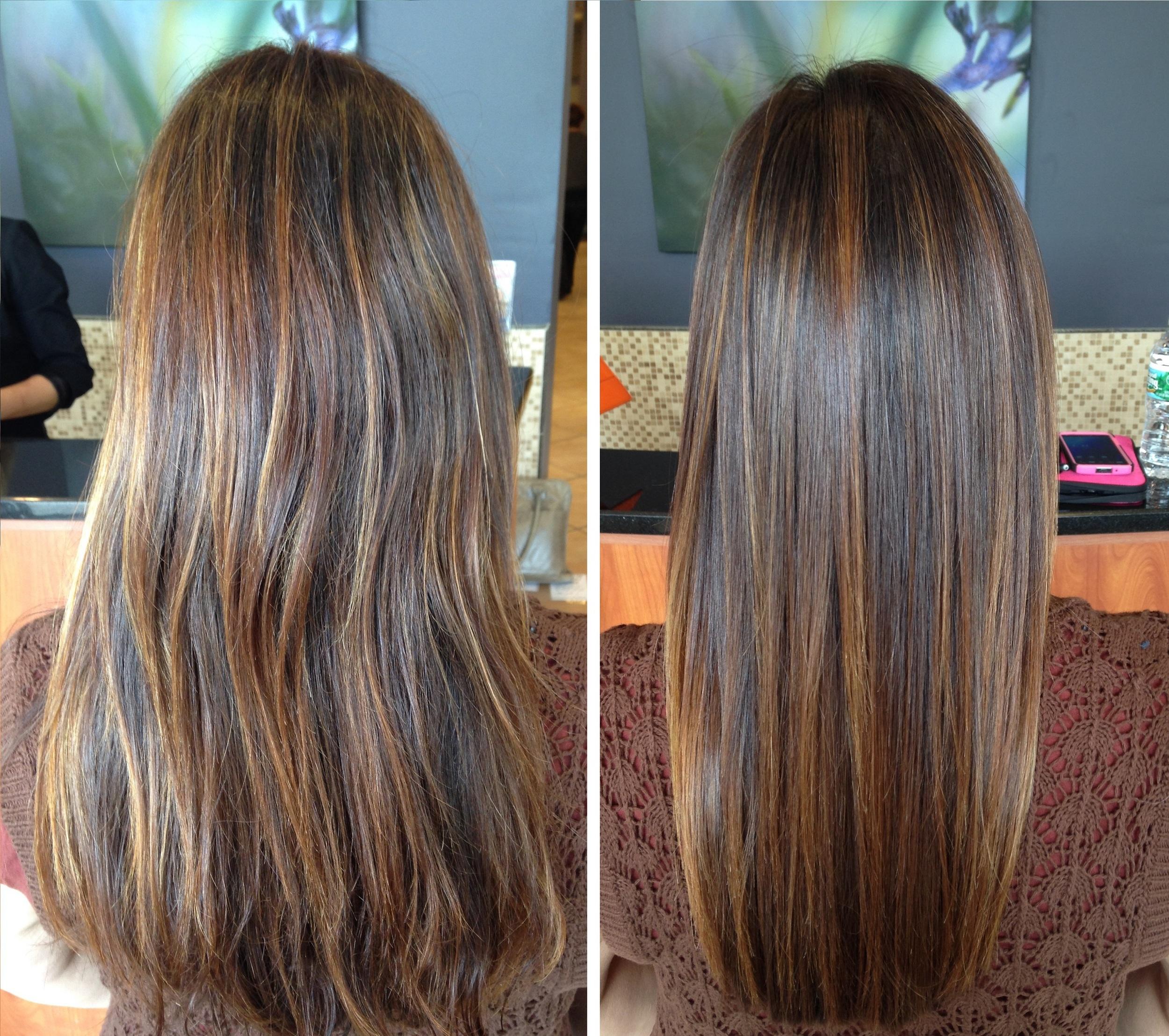 Hair extensions keratins salon belladonna before after keratin treatment pmusecretfo Images
