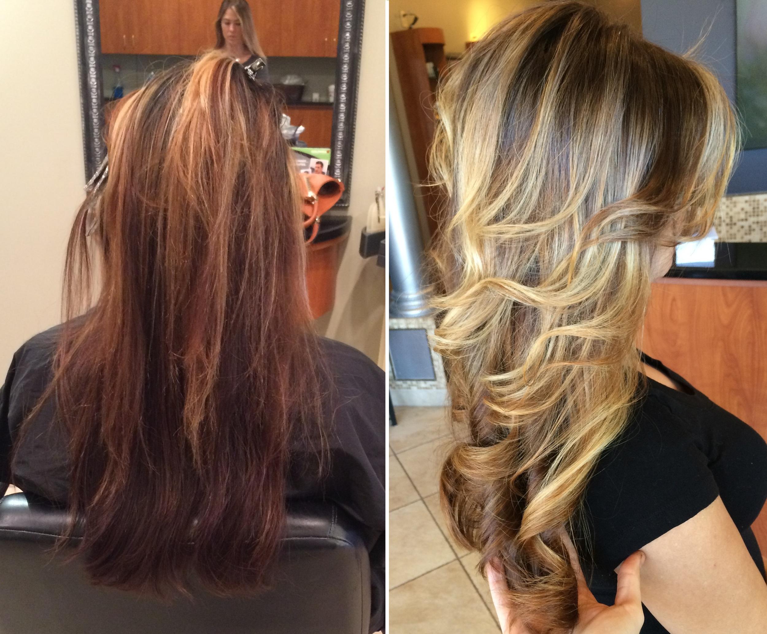 Color cuts salon belladonna before after balayage balayage highlights pmusecretfo Image collections