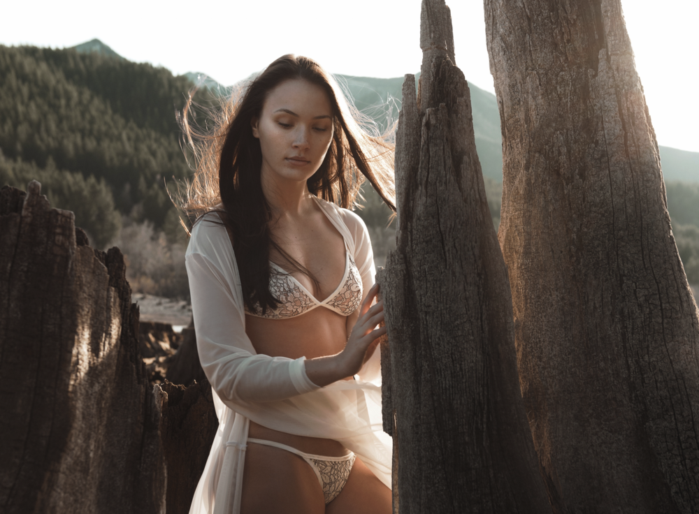 Michelle Hébert Hera Robe with Lace Bralette & Thong | Image by Lisa Town
