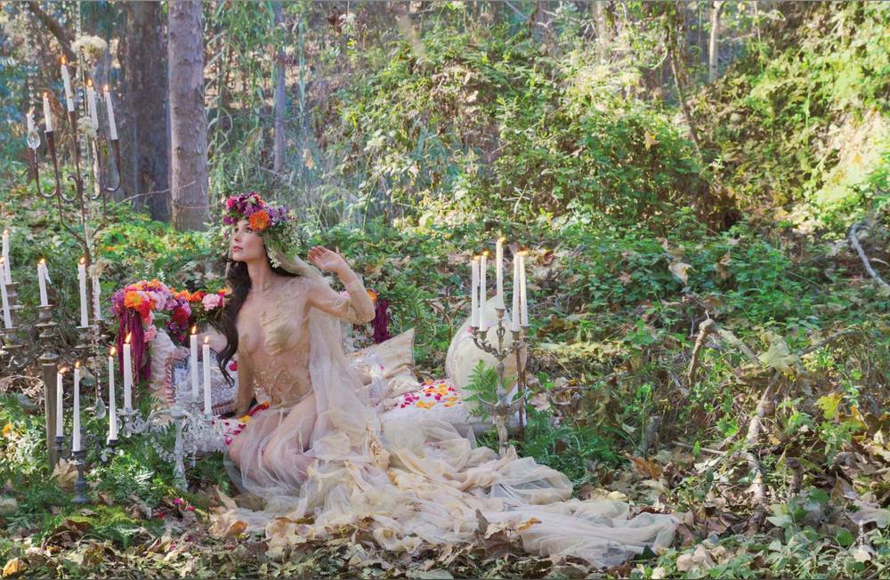 Kristina Anapau wearing Michelle Hébert in Faerie Magazine