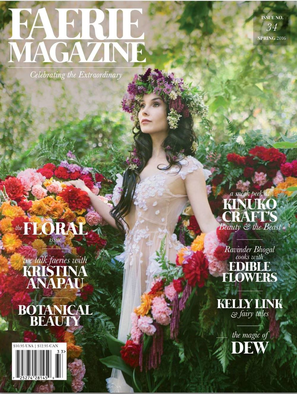 Kristina Anapau on the cover of Faerie Magazine