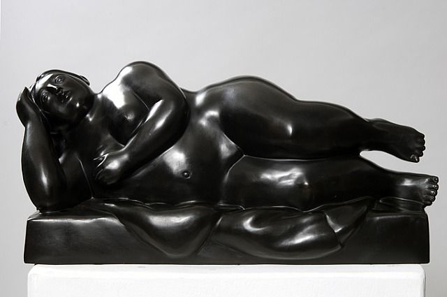 Fernando Botero Small Women Reclining on Her Side, 2008