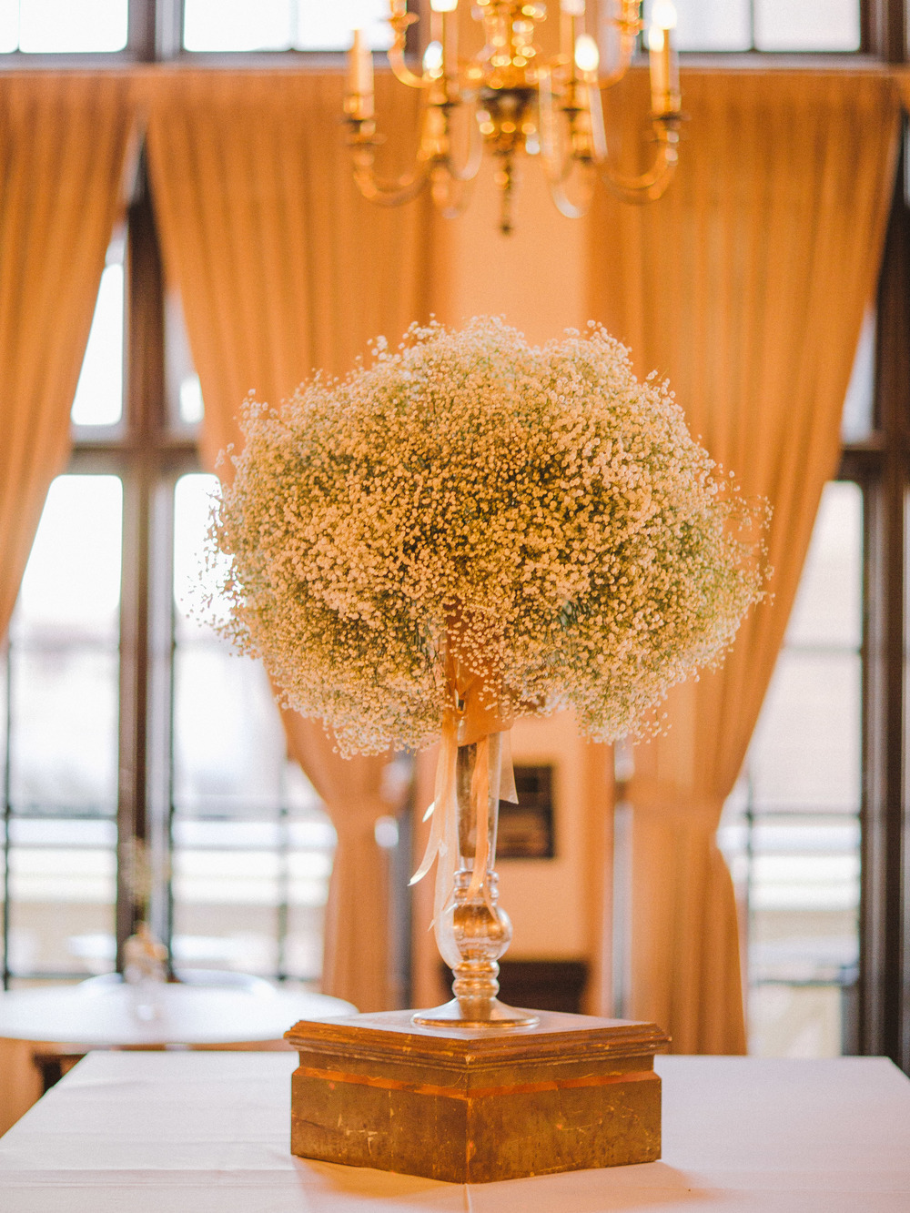 The bride's favorite flower, baby's breath