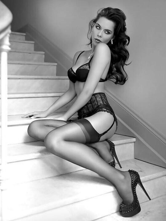 Hot women in black stockings