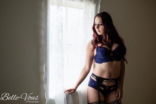 Beautiful blue lingerie