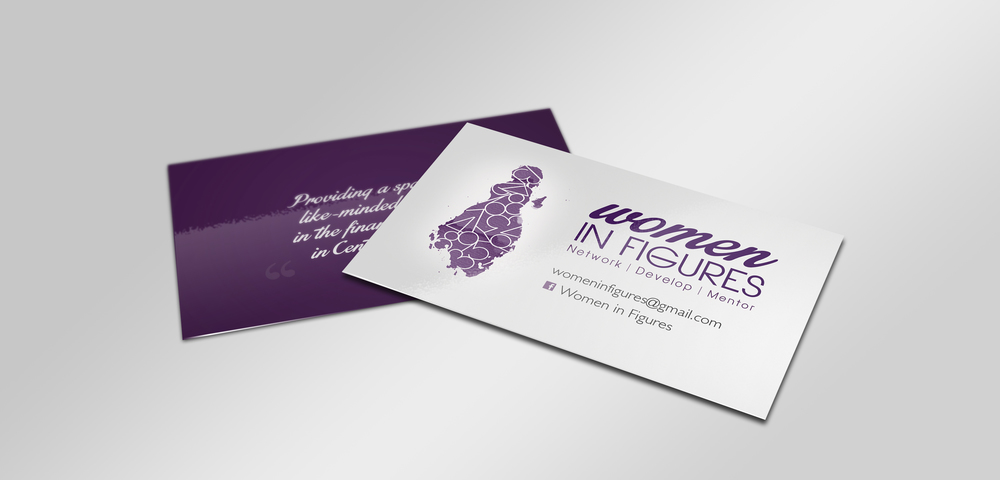 Business card design for Women in Figures.