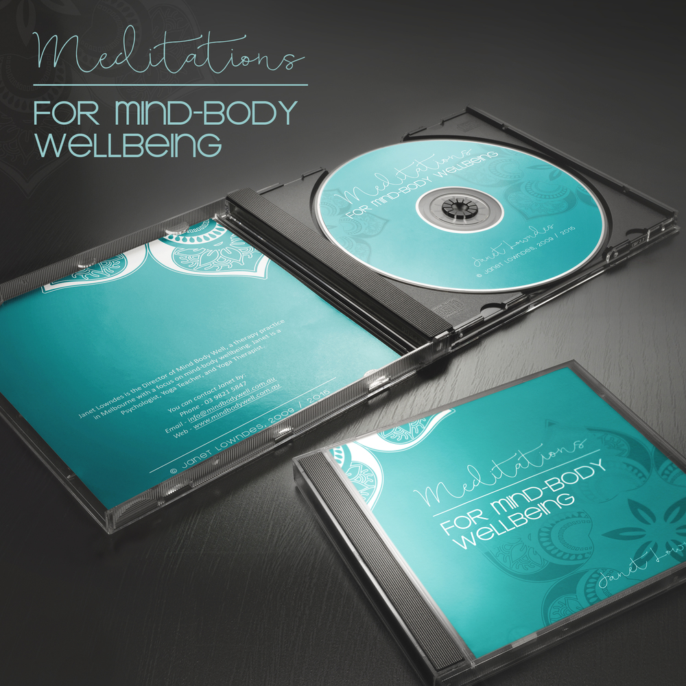 CD Cover, booklet and disc design for Mind Body Well.