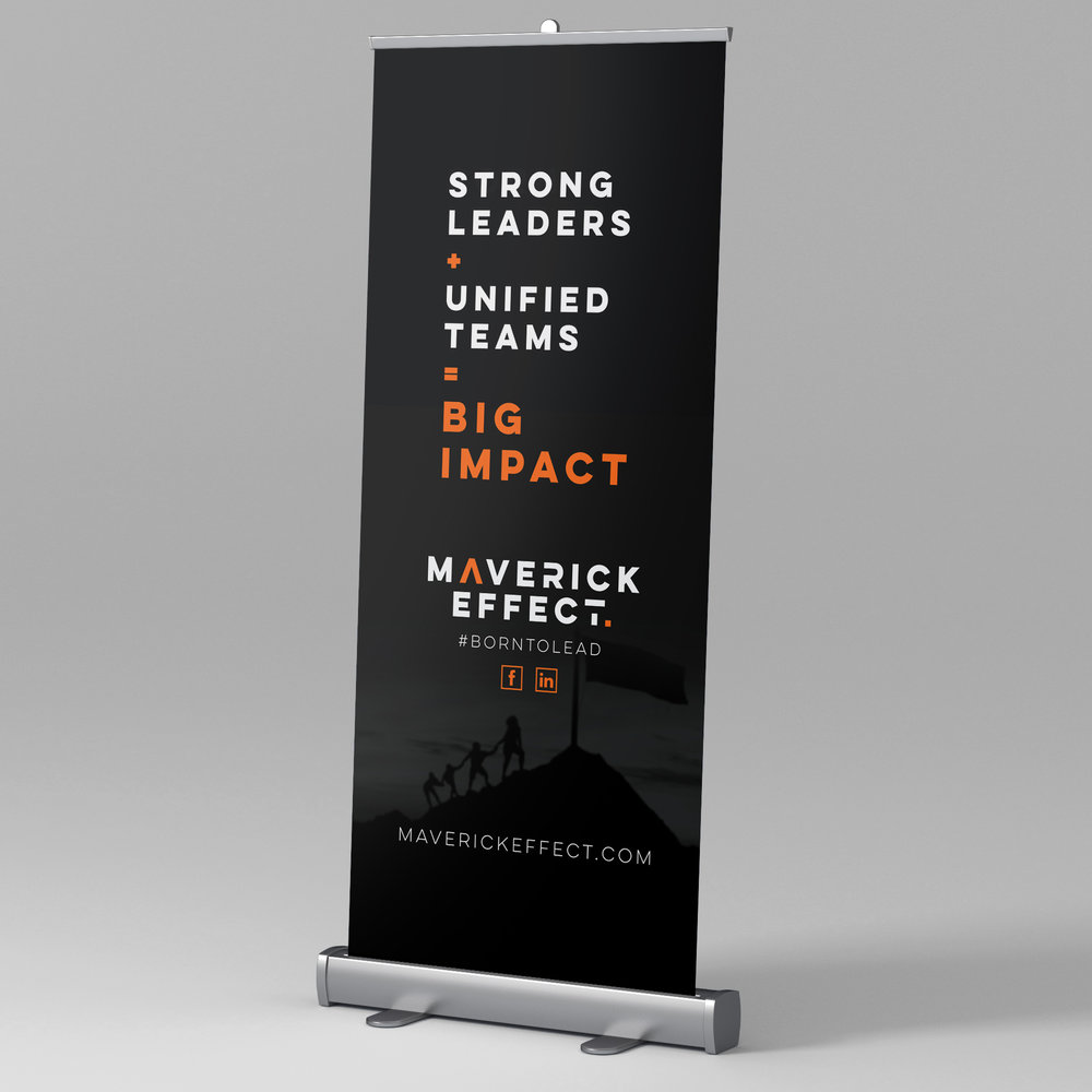 Pull-up Banner - Whether you're at a conference or a market stall make your brand known through a custom made banner. I'll help with all the design and even assist with getting it printed (printing cost not included).Pull-Up Banner: $120
