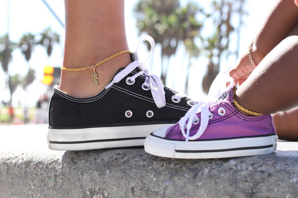 Mommy & Me Feather charm anklet (Baby chain doesn't have charm for safety reasons) - $35 Set
